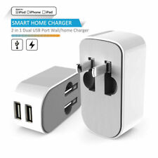 2 in 1 Dual USB Wall Home Charger For Samsung Galaxy S9/S9 Plus/iPhone/iPad/iPod