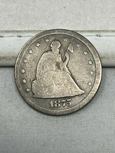 1875-S US Silver Twenty 20 Cent Piece #74