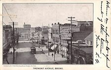 1907 Trolley Stores Tremont Ave. Bronx NY post card