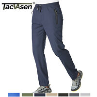 Men's Quick Dry Summer Pants W/ 2 Zipper Pockets Trekking Outdoor Pants Trousers