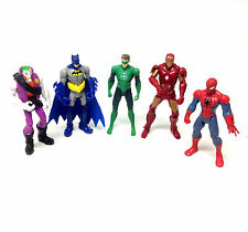 "Marvel & DC 3.75"" figuras Ironman, Batman, Spiderman, Joker, Linterna juego de lote"