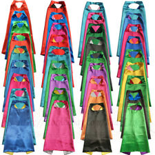 Reversible Superhero capes with masks plain capes for kids birthday party favor
