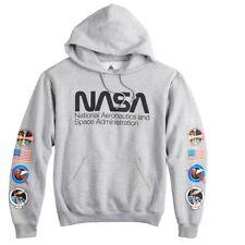 NASA Patches Men's Hoodie, Grey Heather