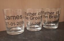 NAME DATE VINYL DECAL STICKER FOR PERSONALISED WHISKY GLASS WEDDING FAVOUR USHER