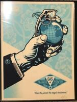 Shepard Fairey Obey Giant ROYAL TREATMENT Signed Numbered Screen Print RARE /300