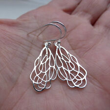 Solid Sterling Silver 925 Filigree Drop Earrings Jewellery Birthday Anniversary