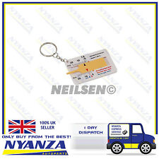 TYRE TREAD DEPTH GAUGE KEY RING TYRE DEPTH CAR WHEEL MEASURE NEW 20MM