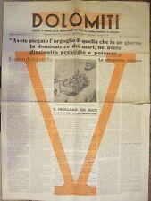 Dolomiti: foglio d'ordini della federazione dei fasci da combattimento di Bellun