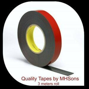 3m Acrylic Double Sided Tape Automotive Metalwork Mounting by MHSons