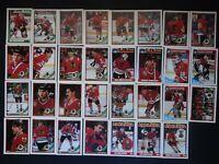 1991-92 Topps Chicago Blackhawks Team Set of 31 Hockey Cards