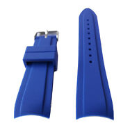 20mm Royal Blue Curved End Rubber Dive Strap Fits Rolex Submariner 16610 in USA