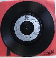 """STATUS QUO Caroline (Live At The NEC) 7"""" Single 45rpm Vinyl VG+"""