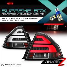 !360 Degree LED BackUp! Black Neon Tube Tail Light LH+RH For 06-13 Chevy Impala