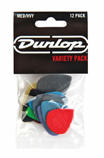 Jim Dunlop Players Pack Medium/Heavy Variety Guitar Picks Plectrum 12 Pack