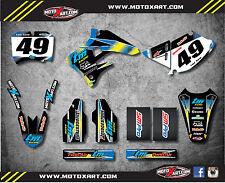 TM 125-250-300-400 2004 / 2007 Full  Custom Graphic Kit SUNRISE STYLE stickers
