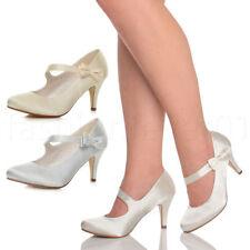 Women's Satin Slim High (3-4.5 in.) Heels