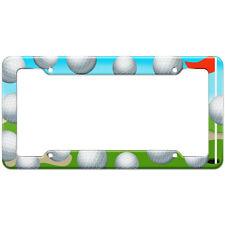 Golf Golfing Green Pattern License Plate Frame
