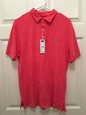 NWT Southern Tide Club Men's Slim Fit Coastal Polo Pink Shirt Medium