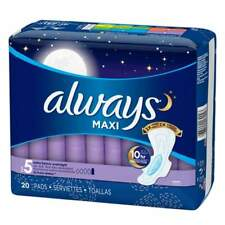 Always Maxi Pads With Flexi-wings Overnight Heavy 20 EA 40 Ct Total