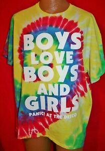 PANIC AT THE DISCO Boys Love Boys & Girls Tie Dye Concert Tour T-SHIRT XL Rare