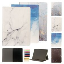 Slim Marble Map Pattern Magnetic Folio Smart Case Fr iPad 234/Air3/Mini12345/Pro
