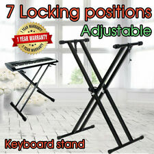 Adjustable Keyboard Stand For Piano Music Double Brace Folding Heavy Duty AU