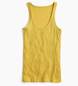 J Crew Tank Top Womens XL Gold Authentic New Classic 1993 Favorite Lyocell Scoop