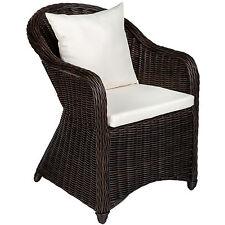 Aluminio silla de jardín sillón sofa de mimbre poliratán terraza con 2 cojínes