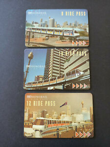 1st Issue TNT Sydney Monorail Multi Ride Pass Set of 3