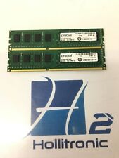 Lot of 2 Crucial 8GB  (4GBx2) DDR3 CT51264BA160BJ.C8FND Server Memory