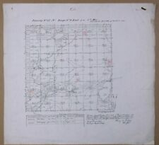 Vintage 1864 RHINELANDER, Wisconsin North Area SURVEY MAP ~ PINE LAKE~Oneida Co.