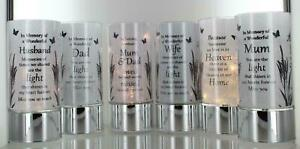 New Tube-light Grave Memorial Led Candle Family Remembrance with Sentiment Verse
