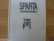 S0211 SPARTA---HANDLEIDING GC50 + GC 50 SPORT----MODEL