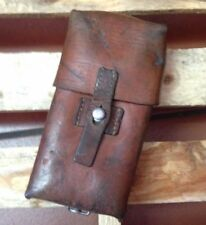 1965 Swiss Army Military Ammo Cartridge Pouch Leather Vintage