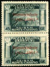 Corpo Polacco 1954 Governo di Londra n. 4 - coppia - varietà (m2718)