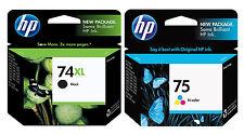 GENUINE NEW HP 74XL/75 (CB336WN/CB337WN) Ink Cartridge 2-Pack