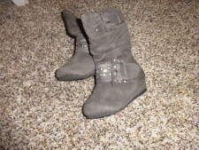 NEW NWOT PARIS BLUES SZ 5 GRAY TODDLER BABY BOOTS SHOES STUDDED
