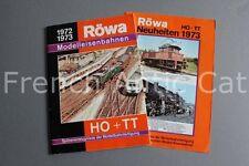 E630 Catalogue vintage Train Ho RÖWA Modelleisenbahnen 1972 1973 Allemand