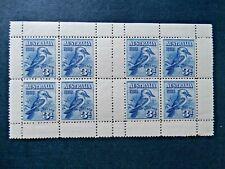 Australia Scarce 1928 3d blue Kookaburra Stamp Exhibition MS Pair, SG MS106a
