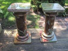 """Beautfiul Pair of Estate Green Onyx Pedestals, Height: 30.5"""""""