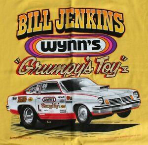 "BILL ""GRUMPY"" JENKINS '73 Vega Pro Stock GRUMPY'S TOY T-shirt 2XL Yellow NHRA"
