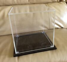 "Clear Acrylic Cube Display Case with Plastic Base 6""x6""x6"""