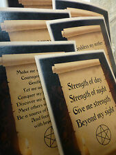 Set of 6 Wiccan Art Prints - Short Rede & Prayers, pagan - candle scroll feather