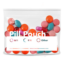 Pill Pouches Clear Resealable Travel Pill Organizer Pouch Medicines Bag 100 Pack