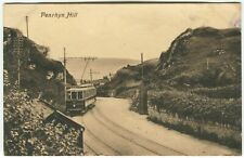 More details for penrhyn hill, tram - caernarvonshire postcard