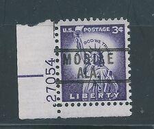 Scott used 1035 serial number single, Mobile AL precancel  LP1