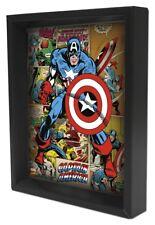 CAPTAIN AMERICA PANELS 8x10 3D SHADOWBOX MARVEL COMICS AVENGERS GIFT USA AMERICA
