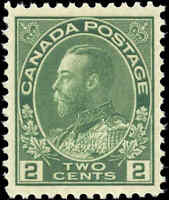 Mint NH Canada VF Scott #107 2c 1922 King George V Admiral Stamp
