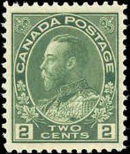 Mint NH Canada VF Scott #107 2c 1922 King George V Admiral Stamp