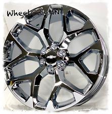 22 Inch Chrome Snowflake Fits 2019 2020 Chevy Tahoe Suburban Wheels 6x55 24